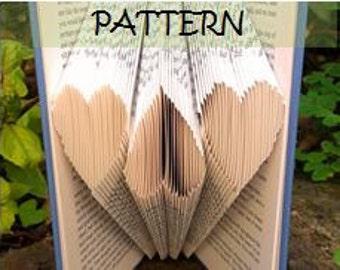 2 Book folding Patterns: HEARTS & STARS design (including instructions) – DIY gift – Papercraft Tutorial