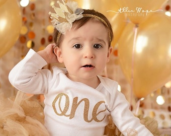 Gold Birthday Crown, Baby Crown, Princess Crown, Gold headband, Tutu, Felt Crown, Birthday headband, Birthday headband, 1st Birthday