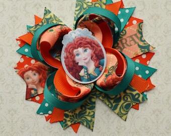 Merida hair bow Brave hair bow Princess Merida bow Brave Merida bow Brave birthday bow Brave birthday party Brave Merida hair clip children