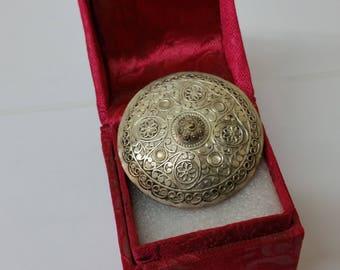 Brooch Berber jewelry silver handmade old SB259
