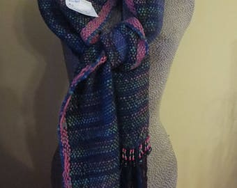 This purple scarf is a handwoven design by Dawn thru dawndianedesigns.