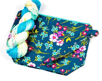 "PRE0RDER--""May Flowers""--Project bag and matching yarn kit"