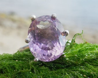 Ametrine ring. Ametrine Gemstone and Sterling silver 925. Silver ring with natural Ametrine. Present For Her. Gift Idea. Engagement Ring