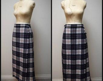 Vintage Saks Fifth Avenue LAIRD PORTCH Scottish Formal Length Skirt Kilt Size 30