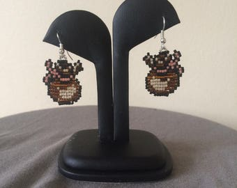 Rupee Bag-Legend of Zelda beaded earrings