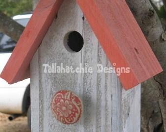 beach birdhouse,  outdoor birdhouses, coral birdhouse, country garden birdhouse, rustic birdhouse, wedding birdhouse