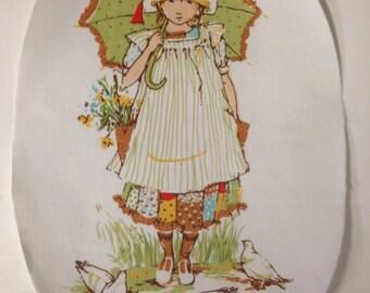Vintage Holly Hobbie Iron On Appliques - OOP