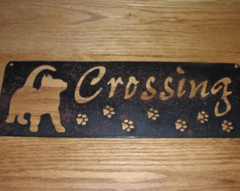Kitty Crossing  - Metal art