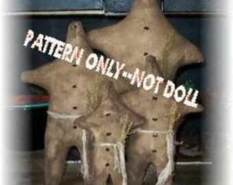 Gingerbread Men epattern-NOT DoLL,   doll Crows Roost Prims 168e Primitive 4 sizes ePattern immediate download
