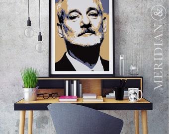 Bill Murray Portrait - Modern Art Print