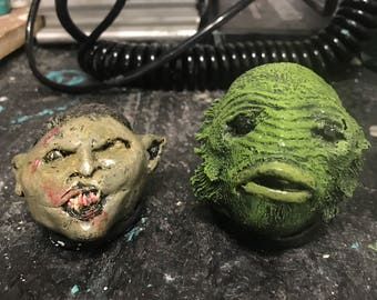 Creature from the Black Lagoon and Orc Resin figures