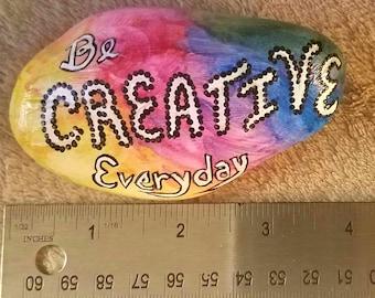 Watercolor Creative Rock