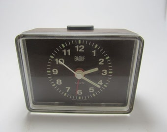 Vintage Alarm Clock Baduf Quartz Made in Germany