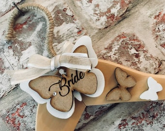 Personalised Butterfly Bridal Hanger,Wedding Dress Hanger,Bridesmaid Hanger,Bridal Party Hanger