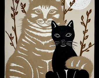 The Odd Couple - 8 X 10 inch Cut Paper Art Print