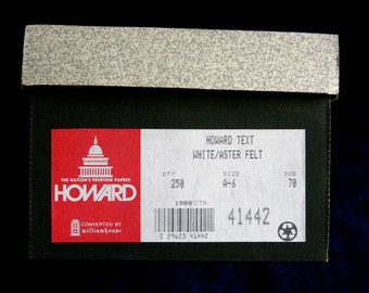 HOWARD's White Aster Felt A6 Envelopes Quantity of 200