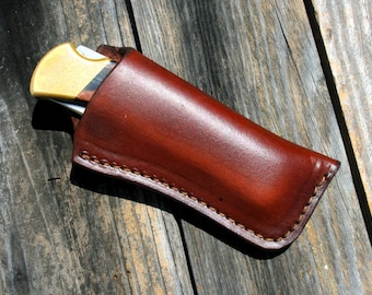 Custom Leather Knife Sheath for Buck 110 or Similar Folding Knife