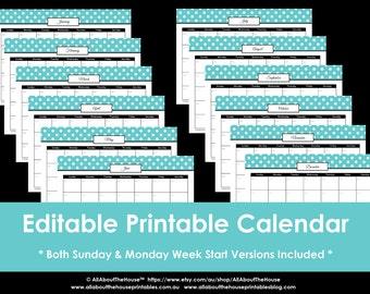 printable 11x17 calendar