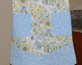 "NEW!! ""Floral Under the Stars"" Half Apron and Hot Pad Set - One of a Kind"