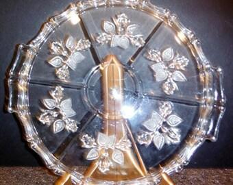 Crystal Desert Plate or Cake Plate