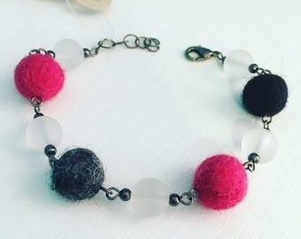 Newport Felt Bracelet - Mod Pink