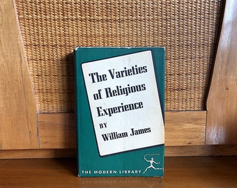 William James - Varieties of Religious Experience - Vintage Modern Library Book Decor - Literary Gift - Graduation Gift Psychology Decor