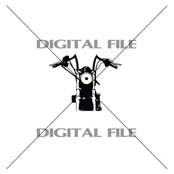 Motorcycle Handlebars Vector Art Vinyl Decal T-shirt Digital