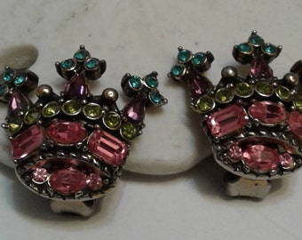 Hollycraft Crown Earrings