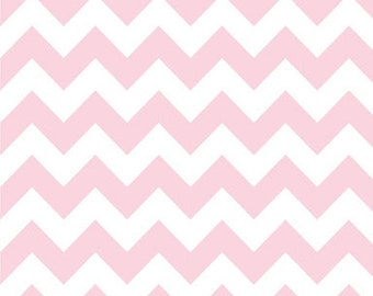40% OFF SALE!  Chevron Medium Baby Pink - Riley Blake