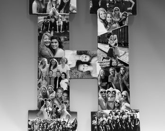 Custom Photo Letter Collage,  Letter Collage, Girlfriend Photo Gift, Friend Collage, High School Graduation Gift, College Graduation Gift