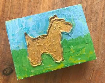 4x5.5 Dog Painting on Wood Block