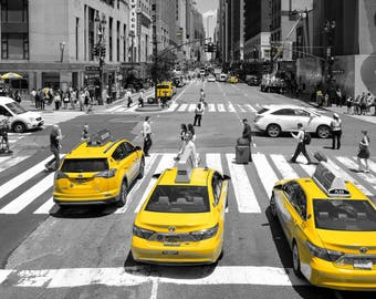 New York New York.Yellow Cabs. The city that never sleeps.New York City.