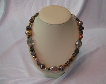 Mixed Stones and Copper Necklace