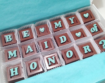 Will You Be My Maid of Honor - Maid of Honor Gift - Maid of Honor Proposal -  Chocolate Bridal Party Gift - Bridesmaid Box - MOH Proposal