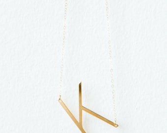Letter Necklaces // Gold or Silver