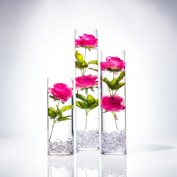 Submersible pink rose floral wedding centerpiece with mightylinksfo
