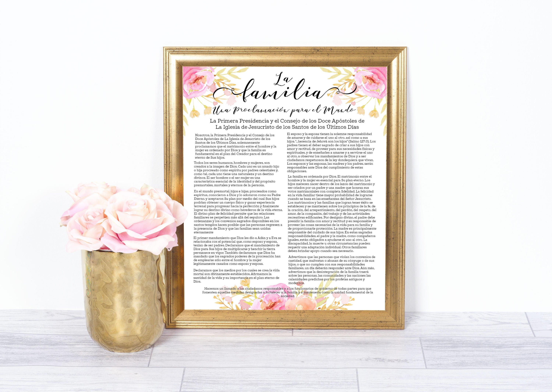 LDS Spanish Family Proclamation LDS Prints Home Decor