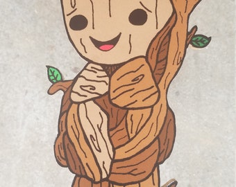 Baby Groot Wooden Wall Art