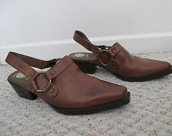 Harness mule shoes with back strap made to order