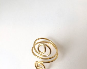 Egyptian scroll Ring, Size 7-7.25., Etsy jewelry, Lilyb444,Gold Ring,
