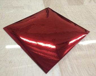 Chrome Red / Blue Self Adhesive Vinyl Sticker Decal DIY Craft Sign Sheet