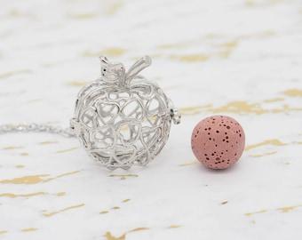 Apple locket - Essential Oil Diffuser Necklace