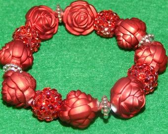 Red Rose Bracelet