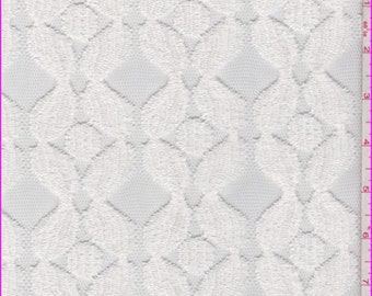 Off White Modern Lace, Fabric By The Yard