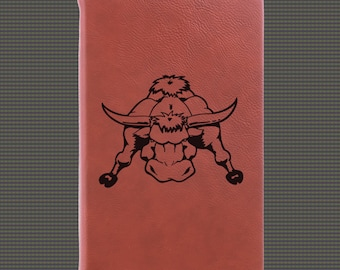 Engraved Leatherette Journal - Farm Animal Designs