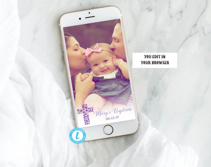 Baptism Geofilter, Baptism Snapchat Filter, Communion Geofilter, Communion Snapchat Filter, Snapchat Geofilter, Custom Geofilter, INSTANT
