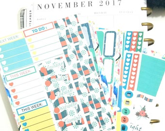 "Happy Planner Classic-Weekly Sticker Kit ""Comfy Cozy Creature Comforts"""