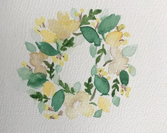 Watercolor Flower Weath