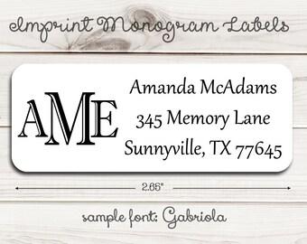 Imprint Monogram Return Address Labels