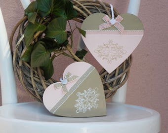 Wooden heart- set